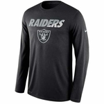 Oakland Raiders Nike Legend Long Sleeve Practice Black Tee