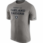 Oakland Raiders Nike Legend Property Of Grey Tee