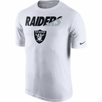 Oakland Raiders Nike Legend White Practice Short Sleeve Tee