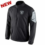 Oakland Raiders Nike Lockdown Half Zip Black Jacket