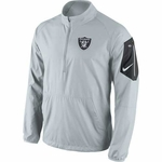 Oakland Raiders Nike Lockdown Half Zip Grey Jacket