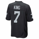 Oakland Raiders Nike Marquette King Black Game Jersey