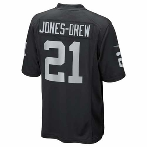 Oakland Raiders Nike Maurice Jones-Drew Black Game Jersey - Click to enlarge