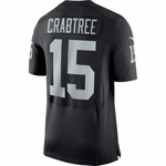 Raiders Nike Michael Crabtree Black Elite Jersey