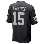 Oakland Raiders Nike Michael Crabtree Black Game Jersey