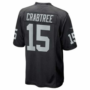 Raiders Nike Michael Crabtree Black Game Jersey - Click to enlarge