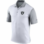Oakland Raiders Nike Preseason Polo White