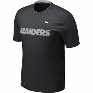 Oakland Raiders Nike Pro Combat Hypercool Speed Tee - Click to enlarge
