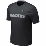 Oakland Raiders Nike Pro Combat Hypercool Speed Tee