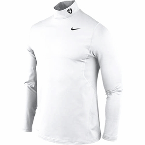 Oakland Raiders Nike Pro Combat Hyperwarm Long Sleeve Training Top - Click to enlarge