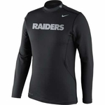 Oakland Raiders Nike Pro Combat Long Sleeve Mock