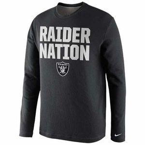 Oakland Raiders Nike Raider Nation Thermal Long Sleeve Tee - Click to enlarge
