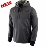 Oakland Raiders Nike Salute to Service Fleece Pullover