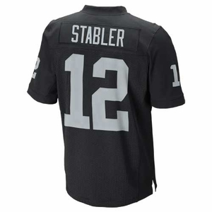 Oakland Raiders Nike Stabler Black Elite Jersey - Click to enlarge