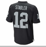 Oakland Raiders Nike Stabler Black Elite Jersey