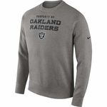 Oakland Raiders Nike Stadium Classic Crew Grey