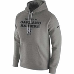 Oakland Raiders Nike Stadium Classic Fleece Pullover Grey