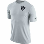 Oakland Raiders Nike Stadium Dri Fit Touch Short Sleeve Top Grey