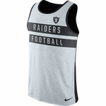 Oakland Raiders Nike Striper Tri-Blend Tank