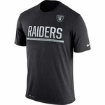 Oakland Raiders Nike Team Practice Black Tee