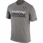 Oakland Raiders Nike Team Practice Grey Tee