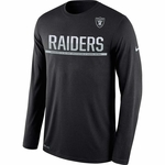 Oakland Raiders Nike Team Practice Long Sleeve Tee