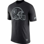 Oakland Raiders Nike Throwback Helmet Logo Tee