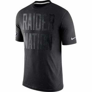 Oakland Raiders Nike Tri Local Black Tee - Click to enlarge