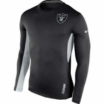 Oakland Raiders Nike Vapor Long Sleeve Top