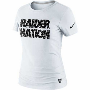 Oakland Raiders Nike White Raider Nation Tee - Click to enlarge