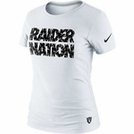 Oakland Raiders Nike White Raider Nation Tee