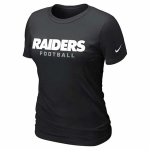 Oakland Raiders Nike Womens Black Team Wordmark Short Sleeve Tee - Click to enlarge