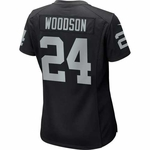 Oakland Raiders Nike Womens Charles Woodson Black Game Jersey