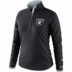 Oakland Raiders Nike Womens Conversion 1/2 Zip Top - Click to enlarge