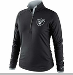 Oakland Raiders Nike Womens Conversion 1/2 Zip Top