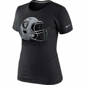 Oakland Raiders Nike Womens Helmet Tee - Click to enlarge