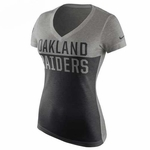 Oakland Raiders Nike Womens Home & Away V-neck Tee