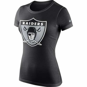 Oakland Raiders Nike Womens Retro Logo Cotton Tee - Click to enlarge