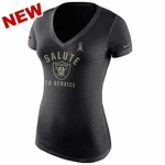 Oakland Raiders Nike Womens Salute to Service Triblend Tee