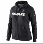 Oakland Raiders Nike Womens Tailgater Full zip Hooded Fleece