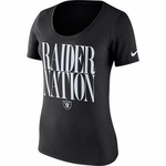 Oakland Raiders Nike Women's Team Spirit Black Tee
