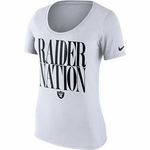 Oakland Raiders Nike Women's Team Spirit White Tee