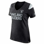 Oakland Raiders Nike Womens Two Sided Fan Tee