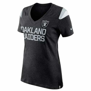 Oakland Raiders Nike Womens Two Sided Fan Tee - Click to enlarge