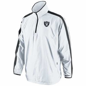 Oakland Raiders Nike Woven Coaches Jacket White - Click to enlarge