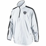 Oakland Raiders Nike Woven Coaches Jacket White