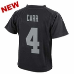 Oakland Raiders Nike Youth Derek Carr Black Game Jersey