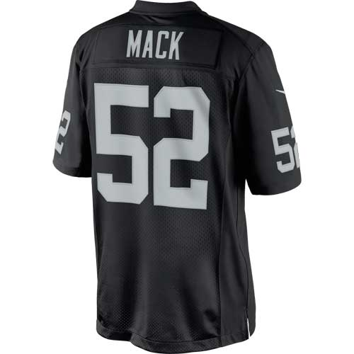NFL Jersey's Youth Oakland Raiders Khalil Mack Nike Black Team Color Game Jersey