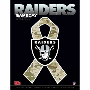 Oakland Raiders November 24th Game Day Program vs Tennesse Titans - Click to enlarge
