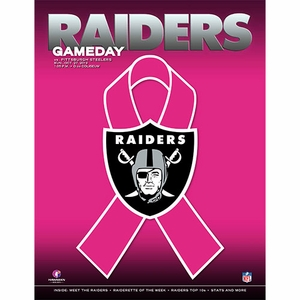 Oakland Raiders October 27th Game Day Program vs. Pittsburgh Steelers - Click to enlarge